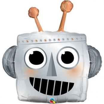 """Шар фольгированный Робот голова"""""""