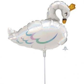 """Шарик на палочке """"Лебедь переливы"""""""