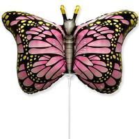 Шарик на палочке Бабочка крылья розовые