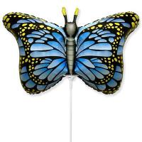 """Шарик на палочке Бабочка крылья голубые"""""""