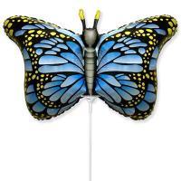 Шарик на палочке Бабочка крылья голубые