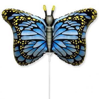 """Шарик на палочке """"Бабочка крылья голубые"""""""