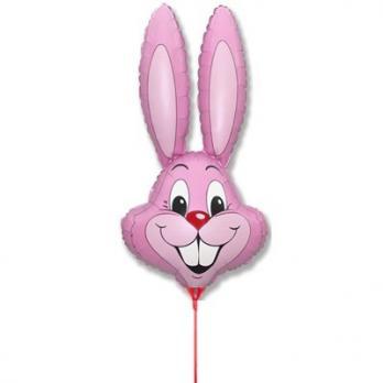 """Шарик на палочке Кролик розовый"""""""
