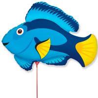 """Шарик на палочке Рыба синяя"""""""
