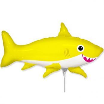 "Шарик на палочке ""Акула веселая желтая"""