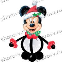 Фигура из шаров Новогодний Микки