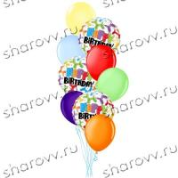 Фонтан из шариков Happy Birthday