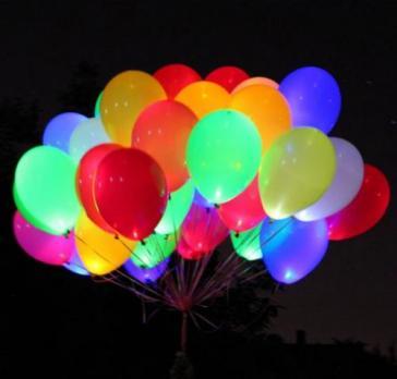 Светящиеся гелиевые шары - Премиум