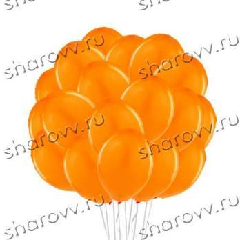 Шары латекс 35см. Оранжевый