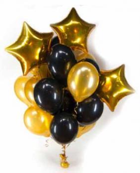 Букет из шаров Золото, черный