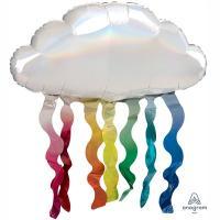 """Шар фольга """"Облако с дождиком переливы"""""""