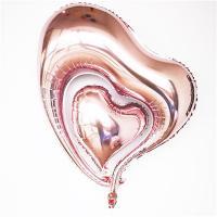 """Шарик """"Сердце двойное Светло-розовое"""""""