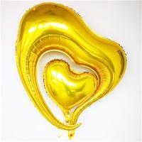 Шар Сердце двойное Золото
