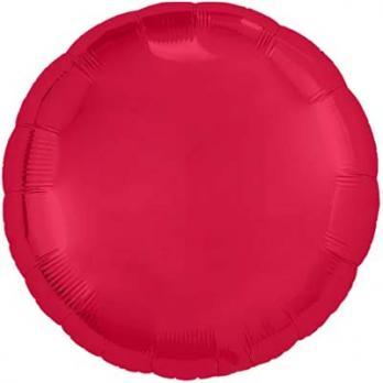 "Шарик круг 76см. Металлик Красный"""