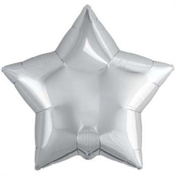 Шар звезда 76см. Металлик Серебро