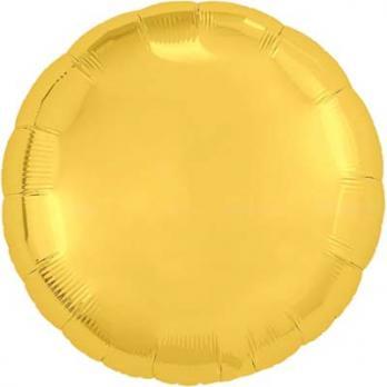 Шар круг 76см. Металлик Золото