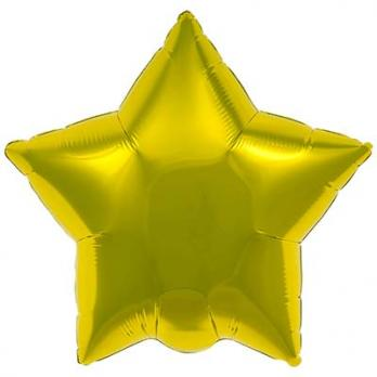 "Шарик звезда 76см. Металлик Золото"""