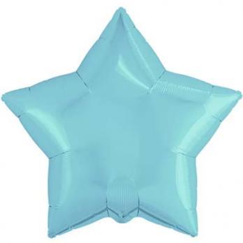 Шарик звезда 76см. Пастель Синий