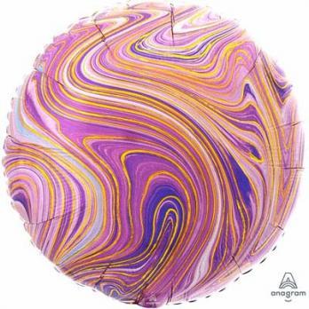 """Шар круг """"Мрамор Фиолетовый"""""""