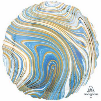Шар круг Мрамор Синий