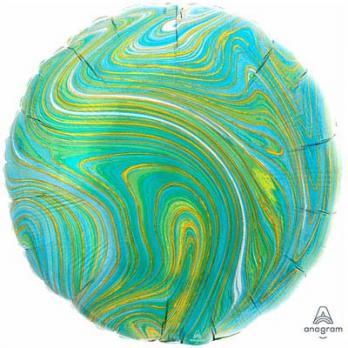 Шарик круг Мрамор Сине-зеленый