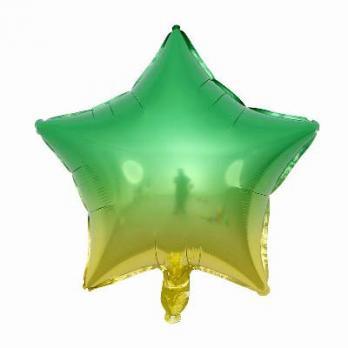 """Шар звезда """"Омбре Зелено-желтый"""""""