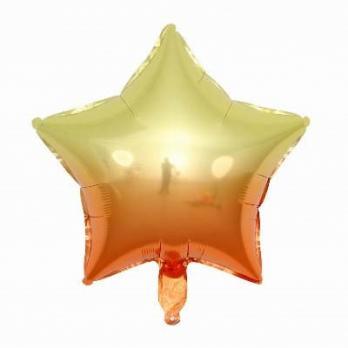 Шарик звезда Омбре Желто-оранжевый