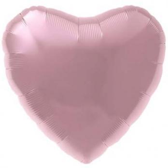 """Шар сердце 76см. Пастель Фламинго"""""""