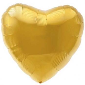 "Шарик сердце 76см. Металлик Золото"""