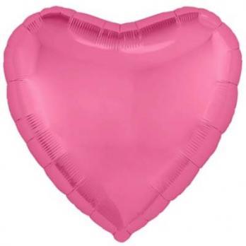 """Шарик сердце 76см. Металлик Розовый"""""""