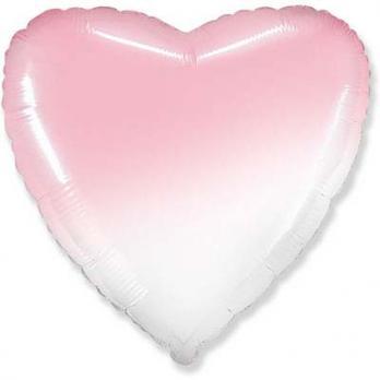 "Шарик сердце ""Градиент розовый"""
