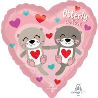 Шар сердце фольга Влюбленная пара