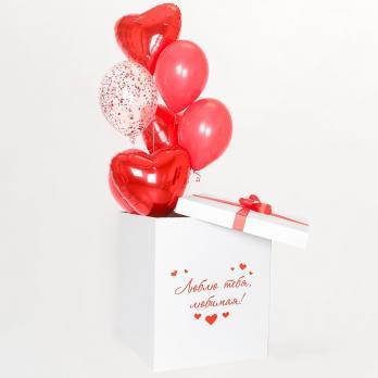 """Коробка сюрприз с шарами """"Моя любовь"""""""