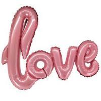 "Шарик буквы ""Love Розовый"""