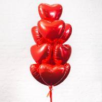 Фонтан из шариков Фольгированные сердца