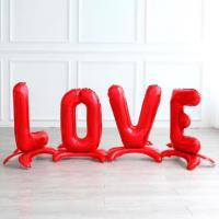 """Шары большие красные LOVE"""""""