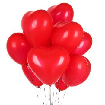 15 шаров сердец латекс 40см.