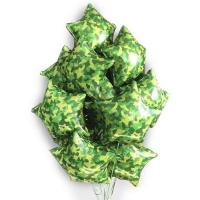 Букет шаров Камуфляж зелено-желтый