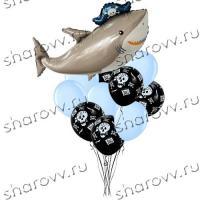 Букет шариков Акула пират