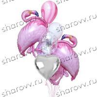 """Букет из шаров """"Танец фламинго"""""""