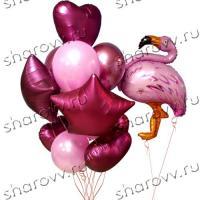 "Сет из шаров ""Фламинго бургундия"""