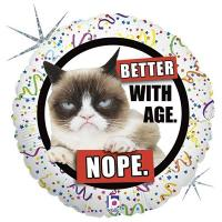 "Шар круг фольга ""Сердитая кошка"""