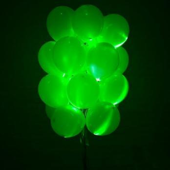 """Воздушные шары светящиеся """"Зеленый"""""""