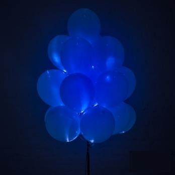 """Воздушные шарики светящиеся """"Синий"""""""