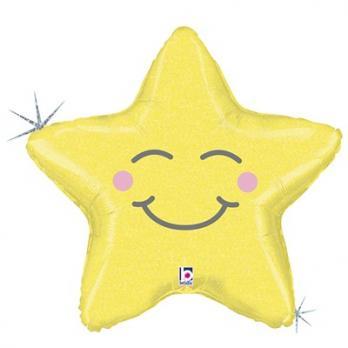 Шар фигура Звезда счастливая блеск