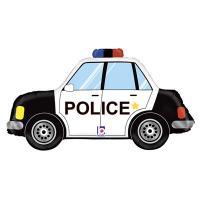 "Шар фигура ""Машина Полиция"""