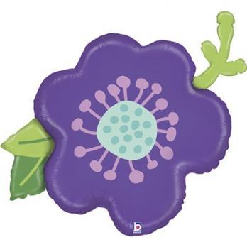 """Шар фигура """"Цветок фиолетовый"""""""