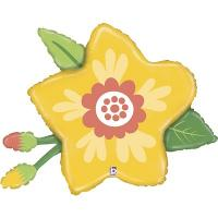 Шар фигура Цветок желтый с бутонами