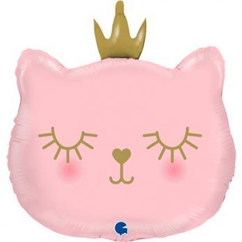 Шар фигура Голова кошки в короне