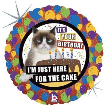 """Шар фигура """"JUST FOR CAKE Сердитая Кошка"""""""